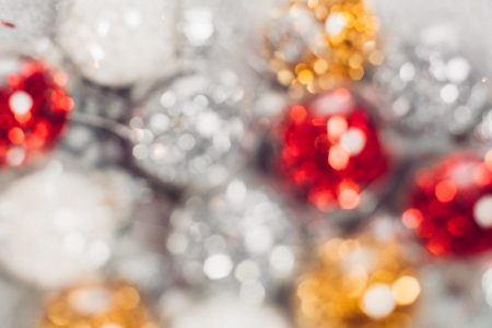 Mini baubles blurred 2 - free stock photo