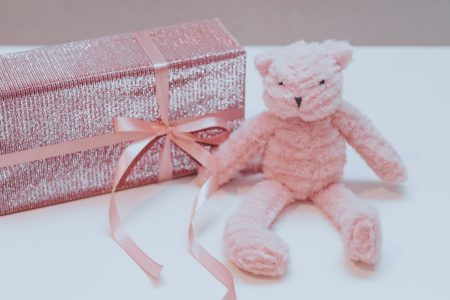 Pink teddy bear - free stock photo