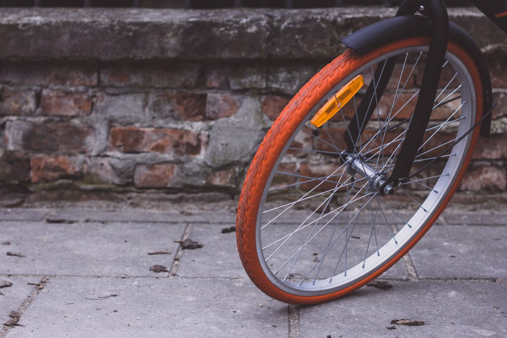Bicycle front wheel - free stock photo