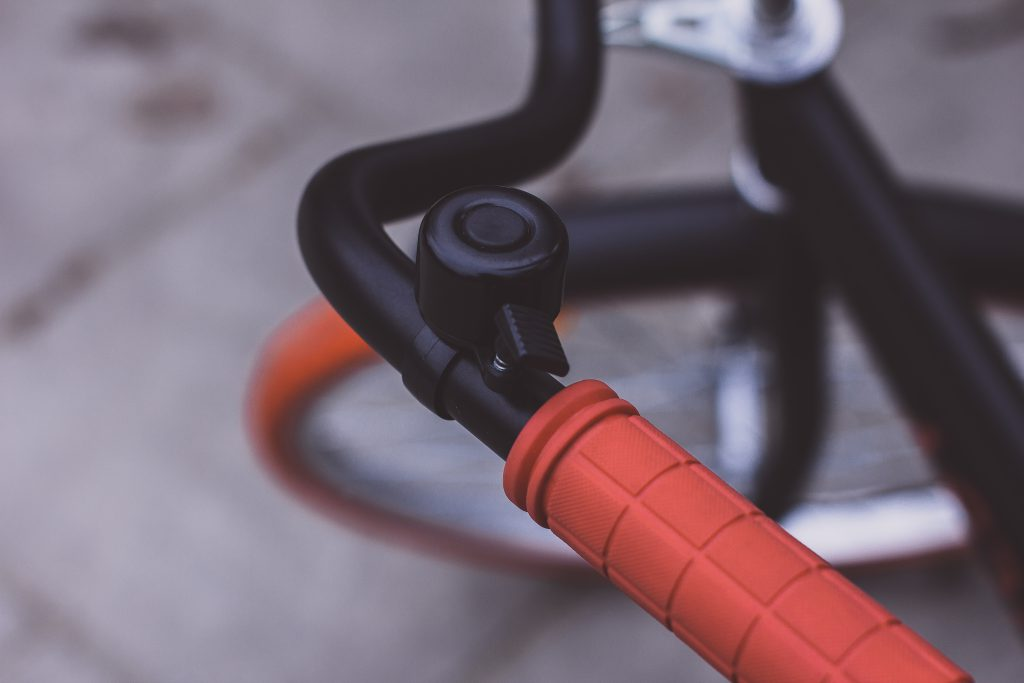 Black bicycle bell - free stock photo