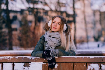 A girl winter portrait 4 - free stock photo