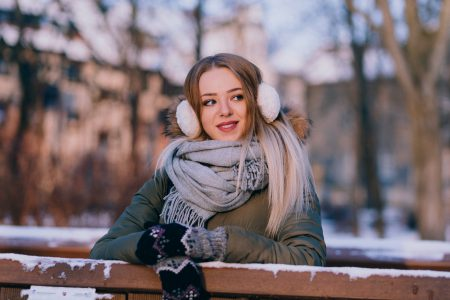 A girl winter portrait 5 - free stock photo
