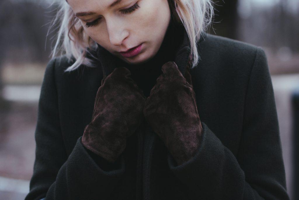 Moody outdoor female portrait closeup - free stock photo