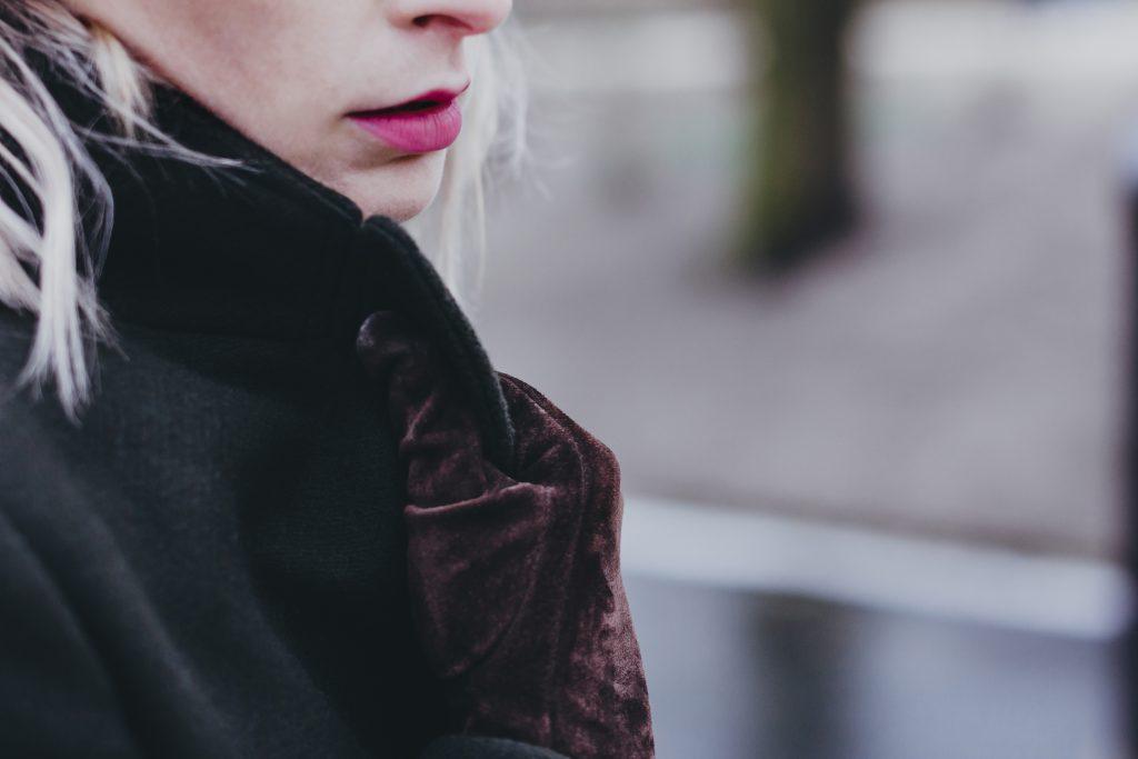 Moody outdoor female portrait closeup 2 - free stock photo