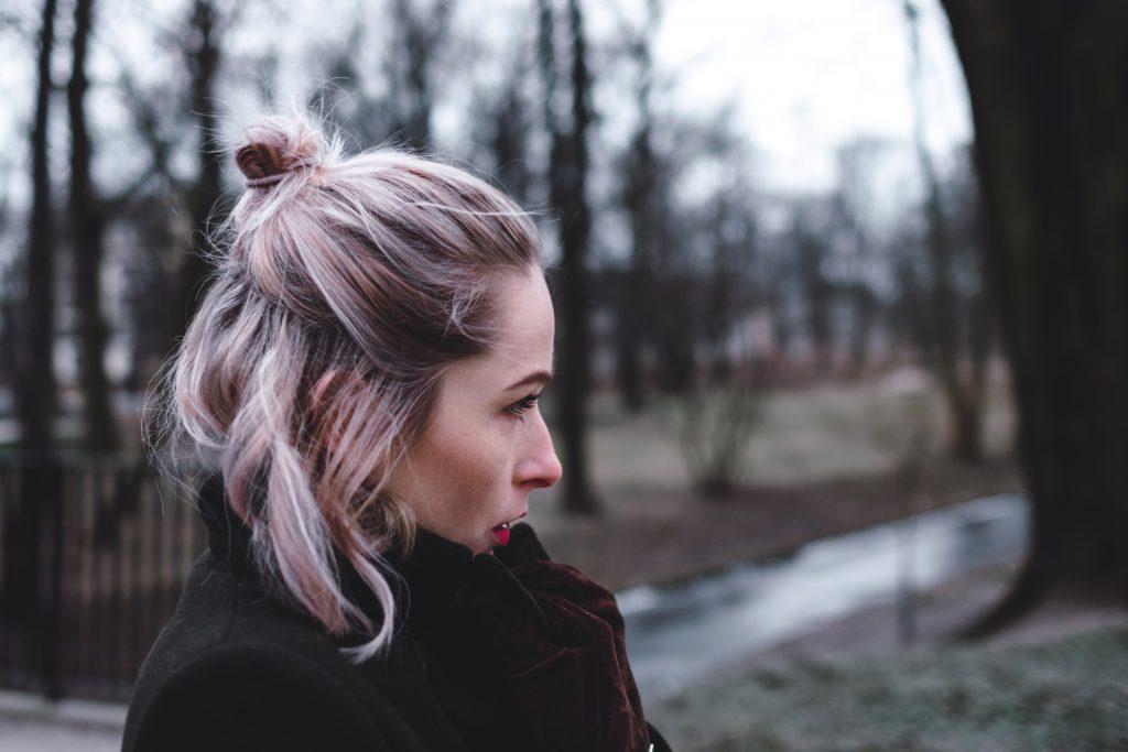 Moody outdoor female profile portrait 2 - free stock photo