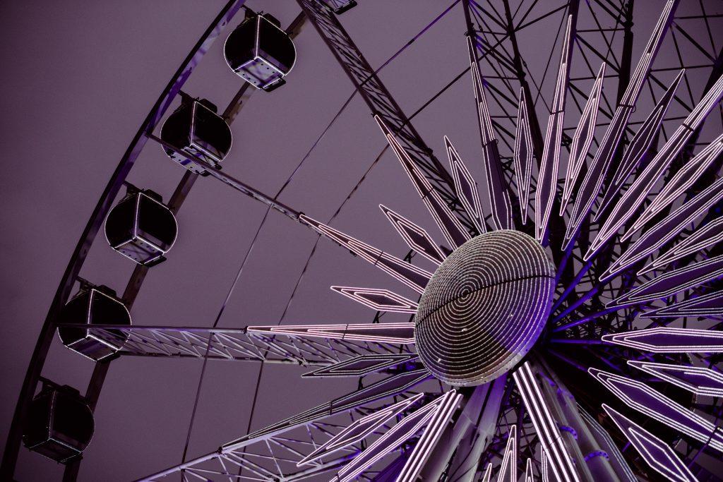 Ferris wheel fragment - free stock photo