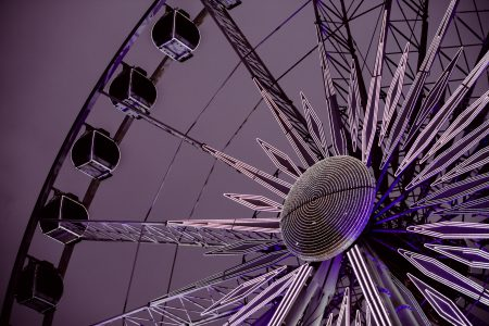 Ferris wheel fragment - free stock photo