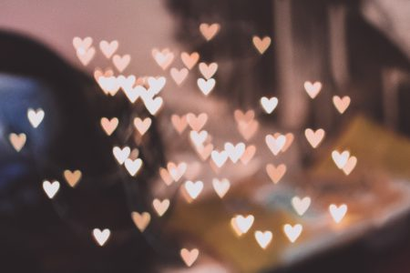 Heart shaped bokeh - free stock photo