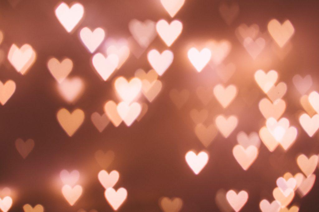 Heart shaped bokeh 5 - free stock photo