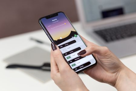 iPhone X in female hands - free stock photo