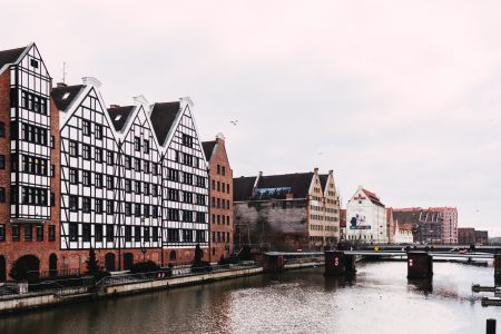Old town building at the river in Gdansk - free stock photo