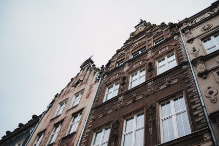 Old town buildings in Gdansk - free stock photo