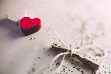 Tiny letter and wooden hearts 2 - free stock photo