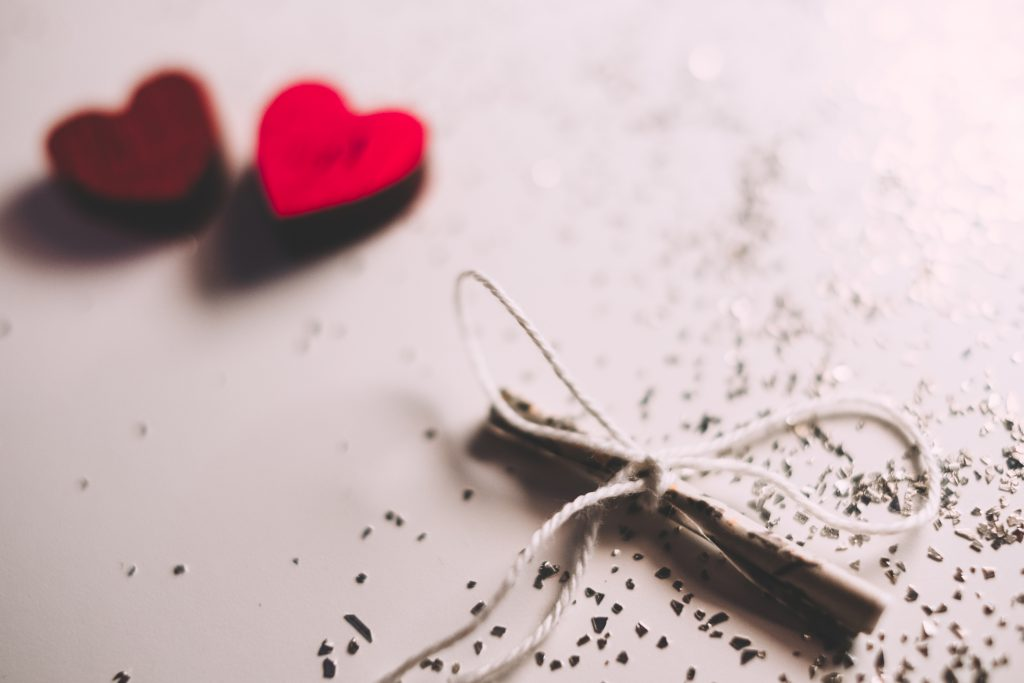 Tiny letter and wooden hearts 3 - free stock photo