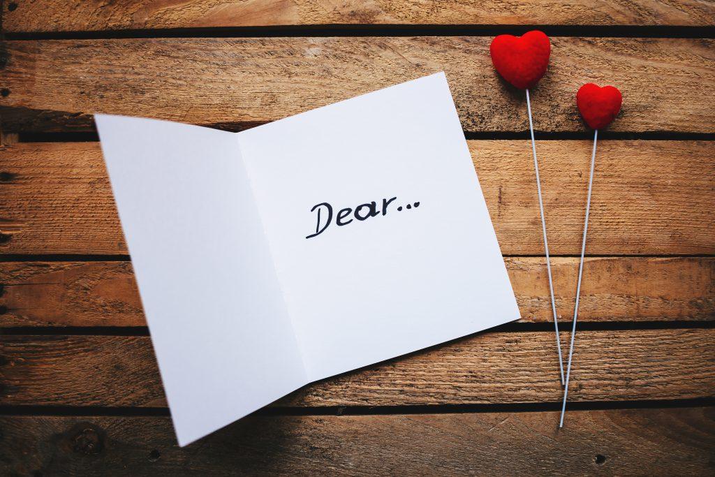 Valentines card dear - free stock photo