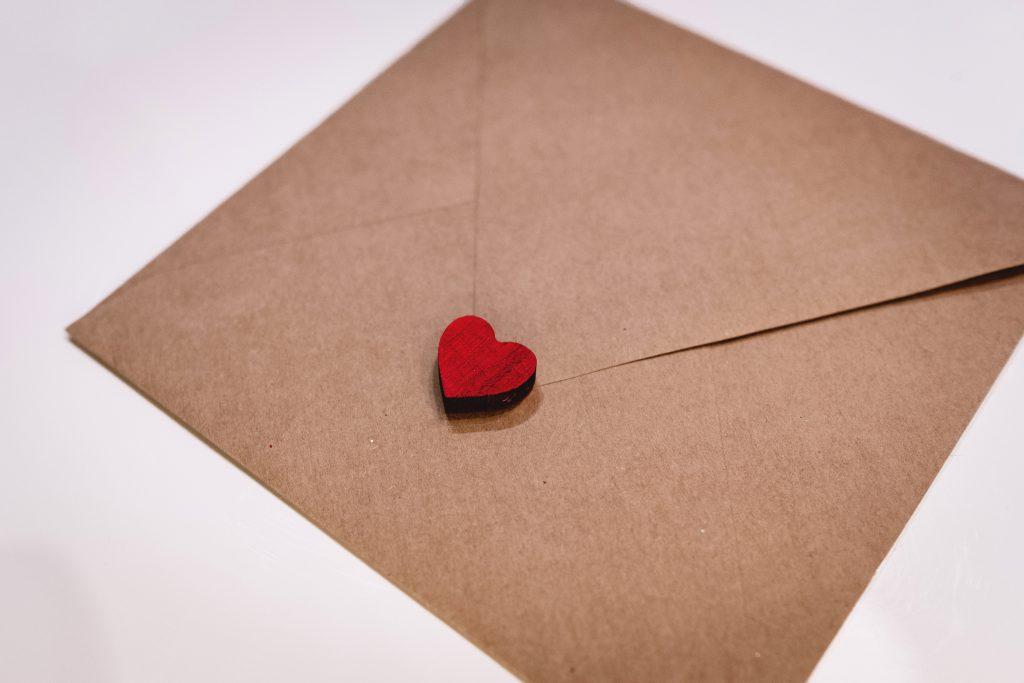 Valentines card envelope - free stock photo