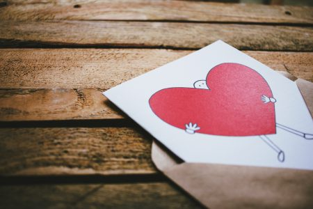 Valentines card on a wooden box 2 - free stock photo