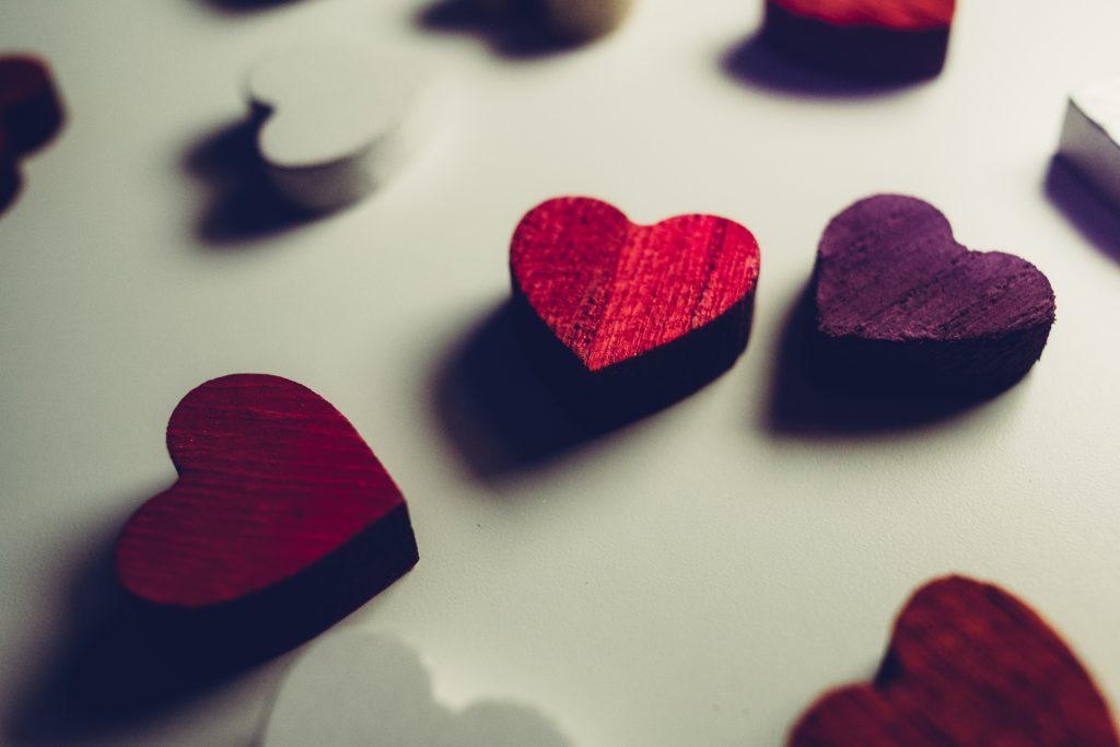 Wooden hearts - free stock photo
