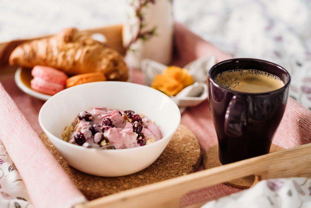 Breakfast in bed - free stock photo