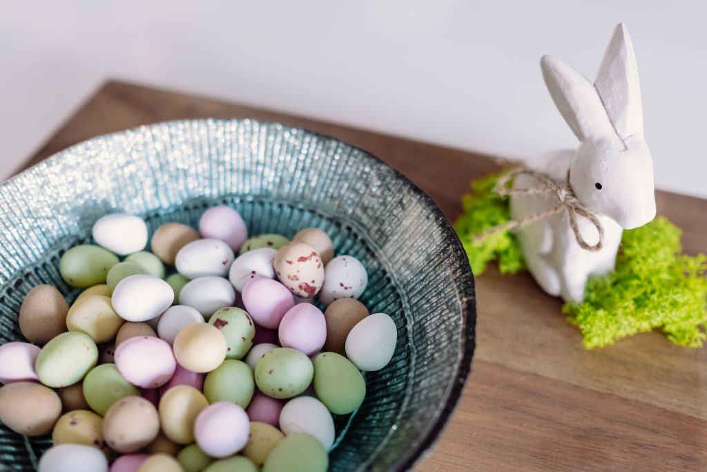 Easter bunny and chocolate eggs 2 - free stock photo