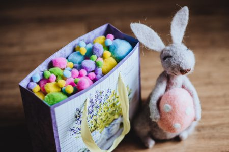 Easter bunny gift - free stock photo