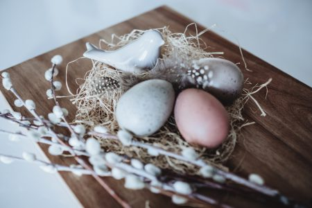 Easter eggs and ceramic bird 3 - free stock photo