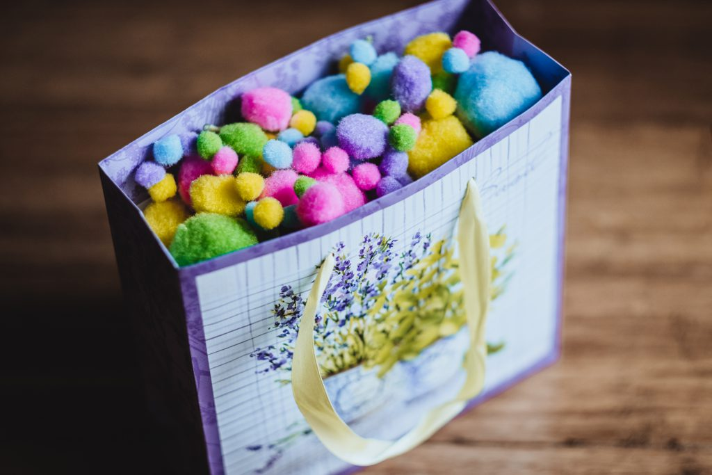 Easter gift bag - free stock photo