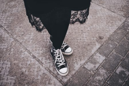Female Converse trainers - free stock photo