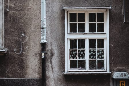 Old wooden window in an old tenement house - free stock photo
