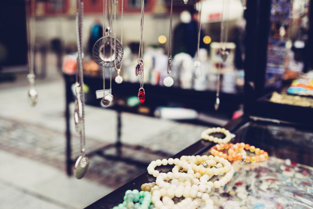 Outdoors jewelry display - free stock photo