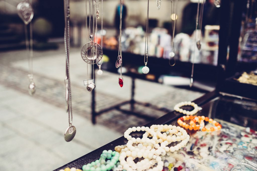 Outdoors jewelry display 2 - free stock photo