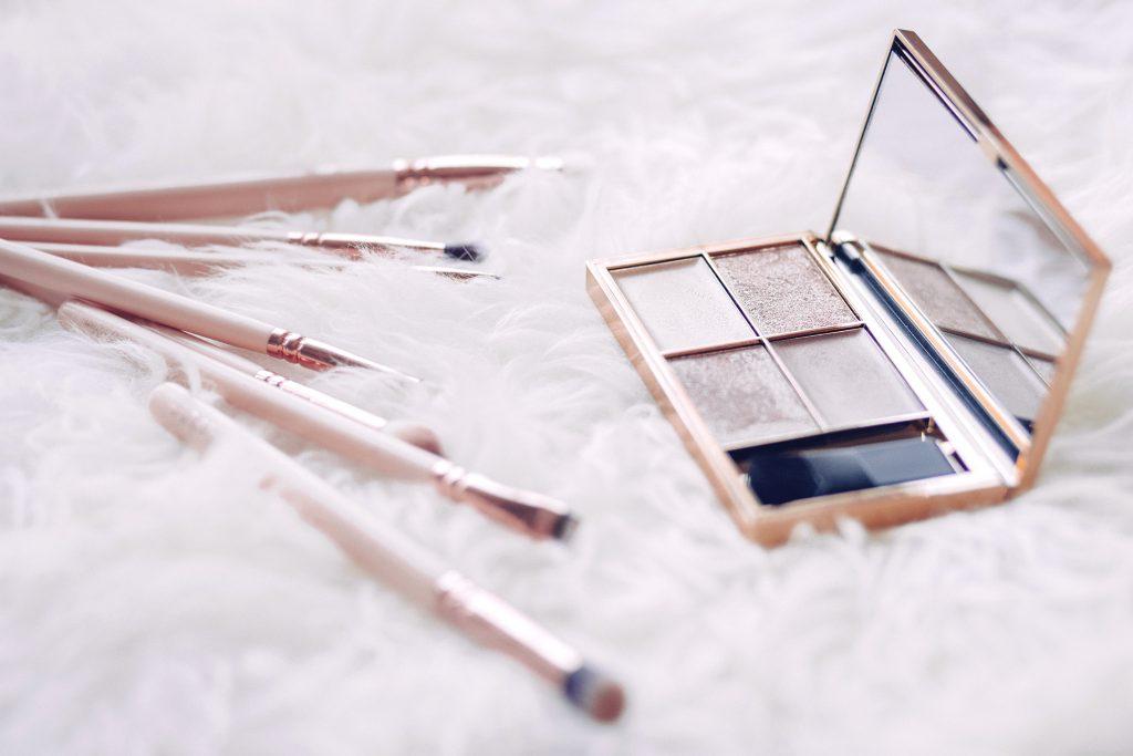 Eyeshadows and makup brushes 3 - free stock photo
