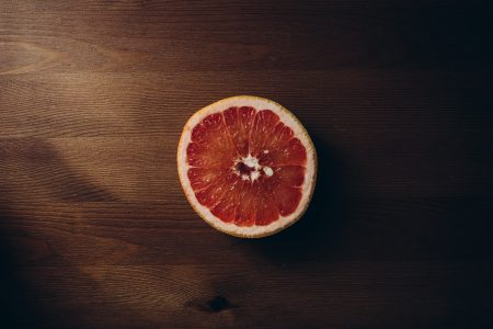 Grapefruit cut in half - free stock photo