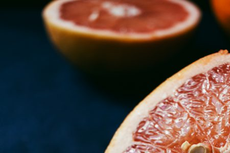 Grapefruits cut in half - free stock photo
