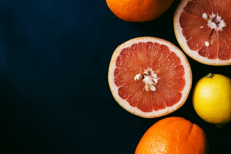 Grapefruits cut in half 2 - free stock photo