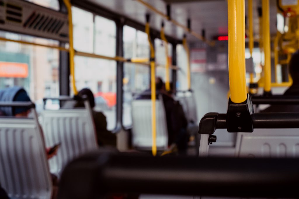 Inside of a tram - free stock photo