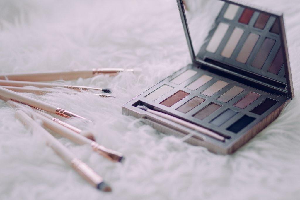 Makeup brushes and eyeshadows 3 - free stock photo