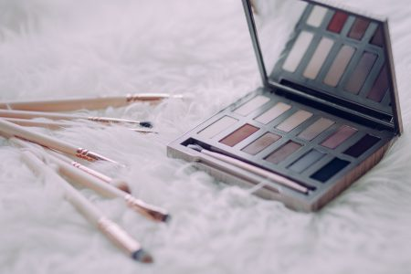 Makeup brushes and eyeshadows 3 - free stock photo