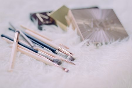 Makeup brushes and eyeshadows 4 - free stock photo