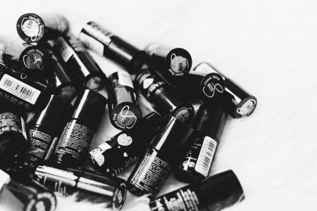 Nail polish in black and white - free stock photo
