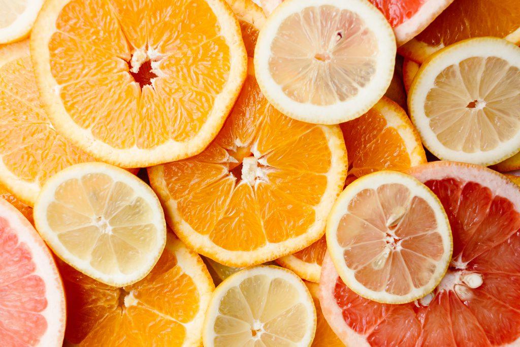 Orange, lemon and grapefruit slices - free stock photo