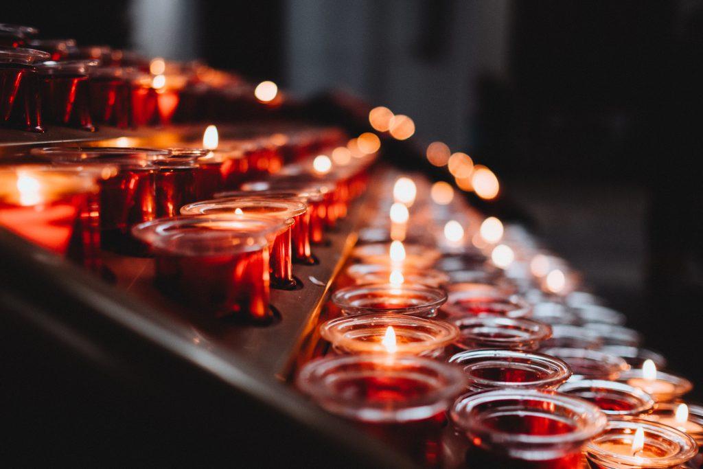 Votive candles 5 - free stock photo