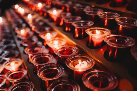 Votive candles 6 - free stock photo