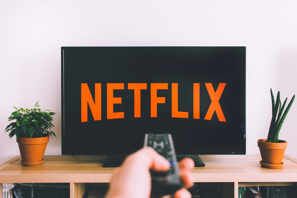 Watching Netflix on TV 2 - free stock photo