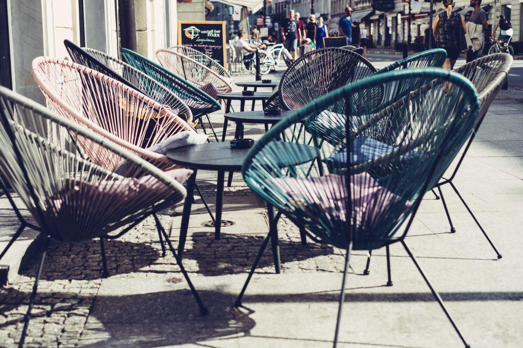 Café outdoor furniture - free stock photo