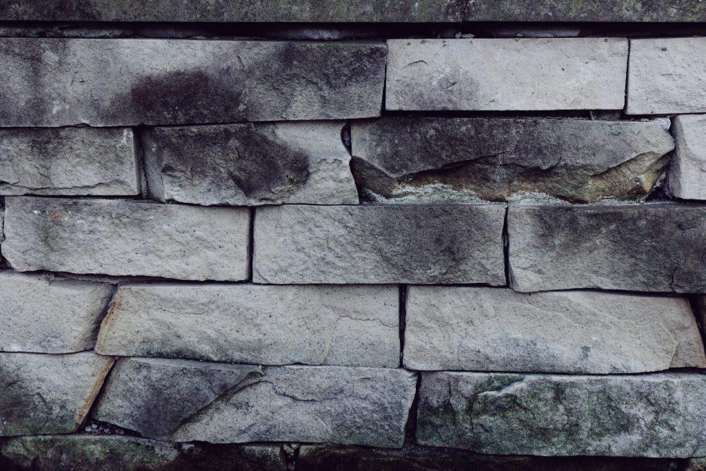 Gray stone wall - free stock photo