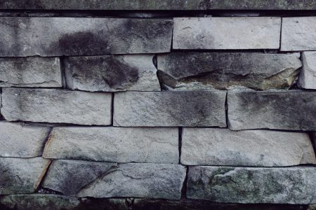 Gray stone wall - free stock photo