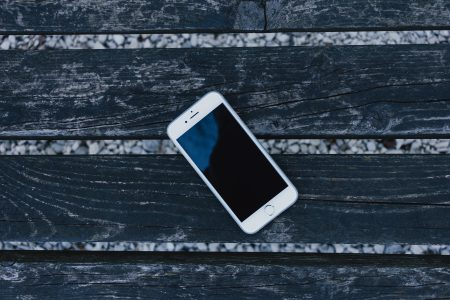 iPhone on a wooden bench 2 - free stock photo