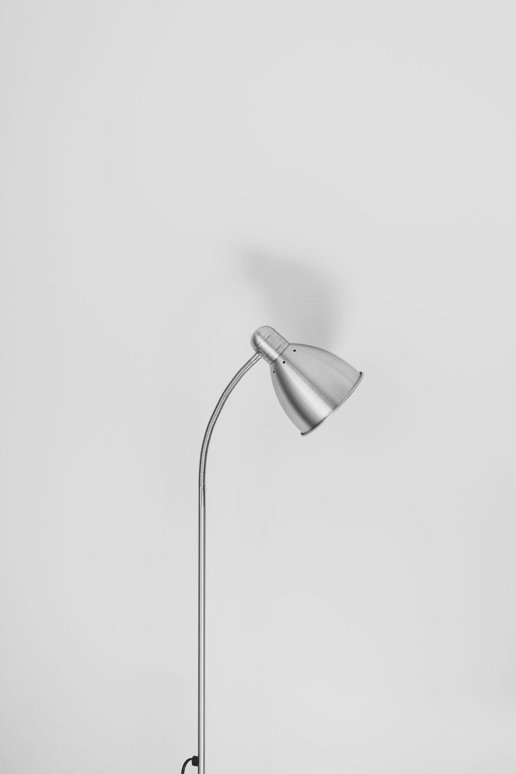 Metal desk lamp - free stock photo