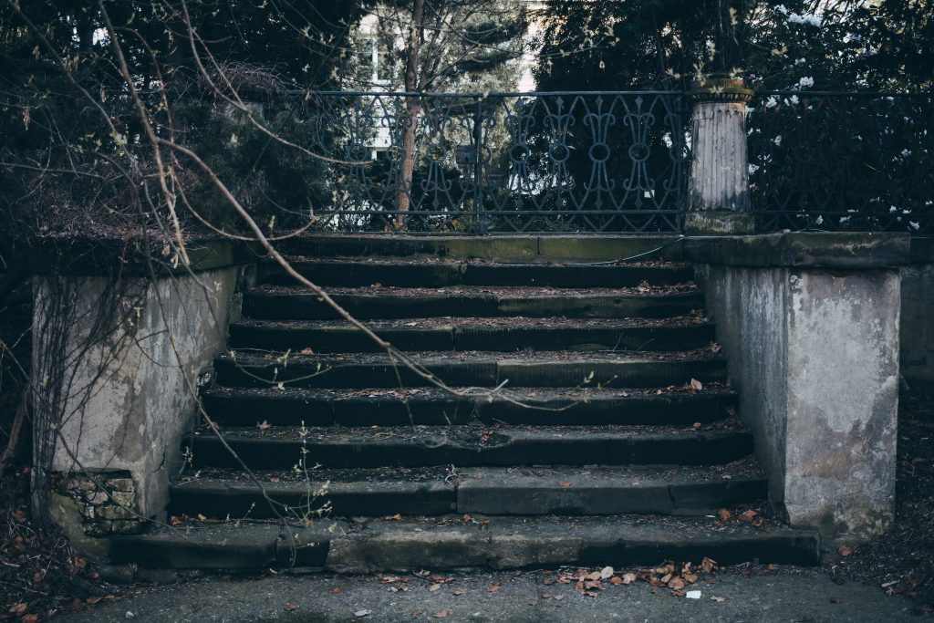 Old stairs in the park - free stock photo
